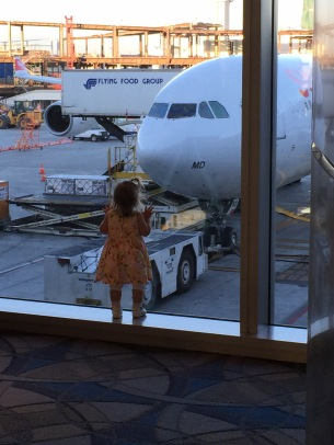 Always watching the planes. I wonder where she gets that from?