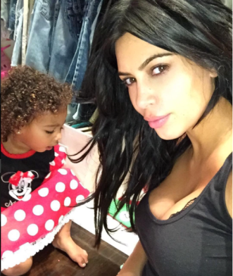 Kim Kardashian with daughter North West. Pic Credit: Instagram